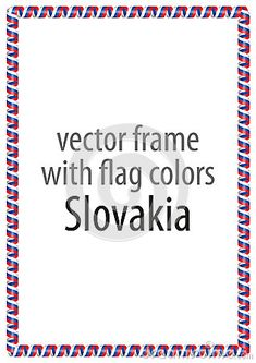 Frame and border of ribbon with the colors of the Slovakia flagю