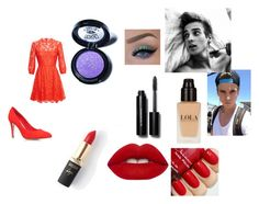 """date with joe sugg"" by georgia-leonard on Polyvore featuring Miss KG, Lime Crime, L'Oréal Paris, Valentino, Medusa's Makeup, Bobbi Brown Cosmetics, women's clothing, women, female and woman"