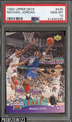 992090af794e82 1992 Upper Deck  425 Michael Jordan Chicago Bulls HOF PSA 10 GEM MINT  Basketball Cards
