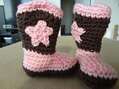 Ravelry: Crochet Baby Cowboy Booties free pattern by Michael Sellick