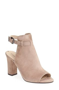 Free shipping and returns on Via Spiga 'Fabrizie' Suede Sandal (Women) at Nordstrom.com. A flirty open toe and slim ankle strap show a little skin in this bootie-inspired sandal, made easy with a moderate heel.