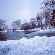 Hope Stevens, Waynesboro  Frozen lake in the snow! So peaceful- Waynesboro, VA #WHSVsnow