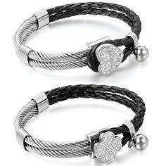 Aroncent 2 PCS Damen Armband, Charme Herz Kleeblatt Geflo... https://www.amazon.de/dp/B01G85WQXO/ref=cm_sw_r_pi_dp_SOLuxb2WF51X6