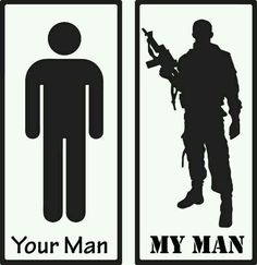 Assorted My Man vs Your Man Army Military Police by stickEdecals Military Couples, Military Love, Army Love, Military Police, Police Wife, Airforce Wife, Proud Army Girlfriend, Army Wife Quotes, Military Relationships