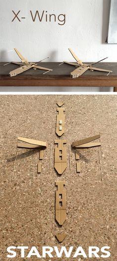 x wing starwars x ala carton karton cardboard nave lego spaceshuttle raumschiff basteln manualidad craft kid kinder niños kids