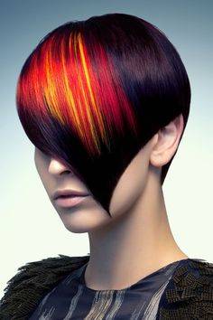 Quite dramantic color, not to mention a cut that Vidal would have been proud of!