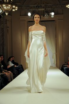 Fanny Liautard: clingy, very sexy, silk, evening gown wedding dress