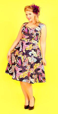 Cherry Velvet Black & Pink Butterfly Chloe Dress - Women & Plus Butterfly Dress, Pink Butterfly, Butterflies, Butterfly Print, Scoop Neck Dress, High Neck Dress, Cherry Dress, Chloe Dress, Plus Size Dresses
