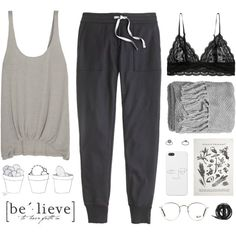 hangover by mara-xx on Polyvore featuring Elizabeth and James, J.Crew, Topshop, Ray-Ban, H&M, Sir/Madam, Urbanears, women's clothing, women's fashion and women