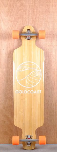 """GoldCoast 41"""" Classic Drop Through Bamboo Longboard Complete"""
