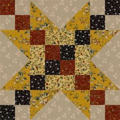 Frayed Sawtooth Star Quilt Block - adding patterns to my Scrapquilts.com Website and revamping its looks.