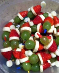 So cute and easy! Christmas in July party snack? More