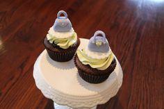 fondant handbag cupcakes