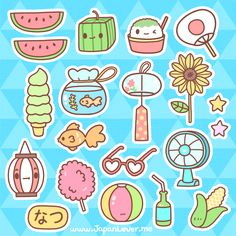 Summer time @ Japan Lover Me!  Summer Stickers!