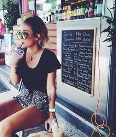 dolphin shorts, cute loose shirt and love necklace #RAYBAN GLASSES# SUNGLASSES FOR WOMEN