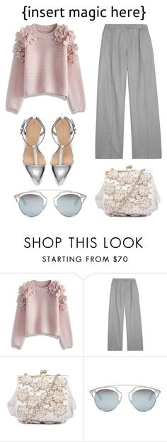 """For The First Day Of Fall."" by konstantinaaabour ❤ liked on Polyvore featuring Chicwish, Carven, Christian Dior and Zara"