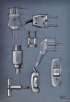 I.D. Sketching & Marker Rendering by Begum Tomruk, via Behance