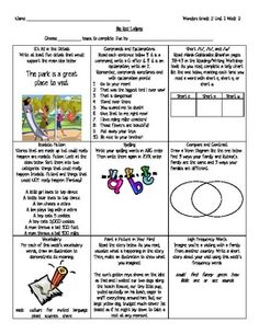 "Choice boards are a wonderful way to offer students a ""choice"" in their work, as well as to differentiate instruction. These choice boards have been designed to go along with the McGraw-Hill Wonders reading series. This is for 2nd Grade, Unit 1."