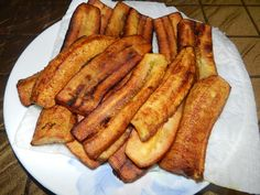 "Fried ripe plantains aka ""maduros"" (yellow plantains)… Puerto Rican Food…Mmmmmm"