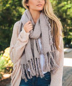 Look what I found on #zulily! Heather Baby Pink Tassel Knit Scarf #zulilyfinds