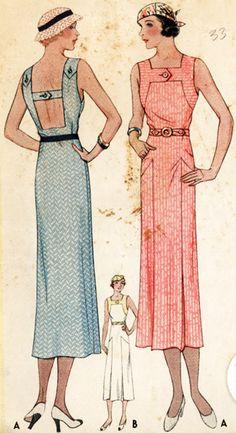 1930s Dress Pattern. Mccall Pattern 7348