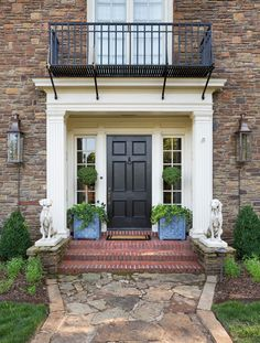 DK Design - Live Outside the Box - beautiful front door and styling