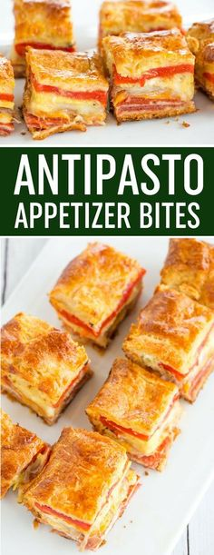 This easy antipasto appetizer bake features layers of Italian meats and cheese, sandwiched between layers of crescent dough. via @browneyedbaker