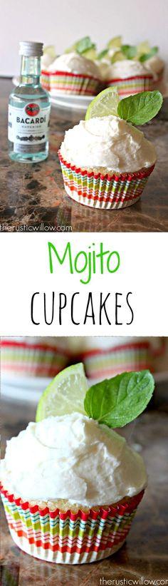 Mojito cupcakes   http://therusticwillow.com #mojito #cupcakes