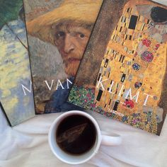 Tea time with Klimt Van Gogh and Monet Art Hoe Aesthetic, Aesthetic Photo, Aesthetic Pictures, Vincent Willem Van Gogh, Arte Van Gogh, Oeuvre D'art, Art School, Monet, Art History