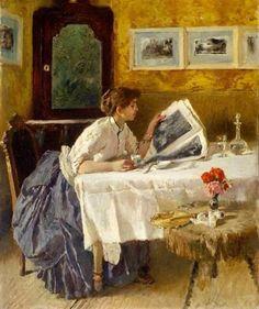Francesco Netti La lectura, 1875