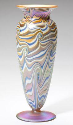 """Durand """"King Tut"""" Art Glass Vase"""