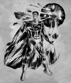 Superman before the colors