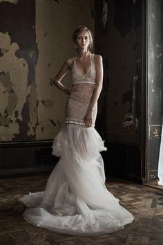 Vera Wang-Spring 2016   In recent years, we've seen a change in the aesthetic of Vera Wang's Bridal collections, turning from more traditional princess gowns to cutting edge, boundary-pushing designs that aren't made with the typical bride in mind 