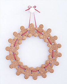 Gingerbread-Man Wreath - Martha Stewart Christmas Cookies