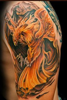 Phoenix tattoo phoenix tattoo sleeve, phoenix tattoo men, phoenix tattoo design, new tattoos Phoenix Tattoo Sleeve, Phoenix Tattoo For Men, Phoenix Bird Tattoos, Phoenix Tattoo Design, Sleeve Tattoos, Ink Master Tattoos, Body Art Tattoos, Cool Tattoos, Tattoo Ink