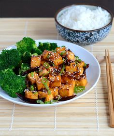 General Tso's Tofu (Not Fried)