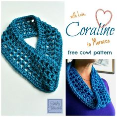 Coraline in Morocco is a one skein cowl crochet pattern that is super quick and easy. It will be your go-to accessory.