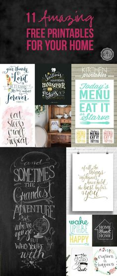11 Amazing Free Printables for Your Home