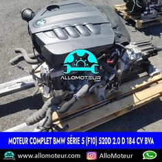 Moteur complet BMW Série 5 (F10) 520d 2.0 d 184 cv BVA 🔵79.000 Kms certifiés 🔵Référence moteur N47D20C 🔵Année 2016 ( 2011-2017 ) 🔵Livré complet sans boîte de vitesses 🔵Garantie 6 mois