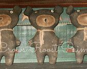 Bear 1 Primitive Wilma  Crows Roost Prims doll SALE