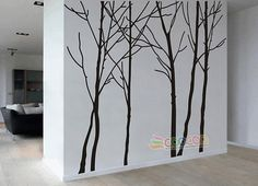 Tree Wall Decal Forest Vinyl Sticker Large Nursery by coocoodecal