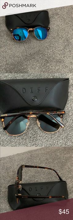 baa5429b439 Diff Sunglasses These are the Barry-tortoise+ Blue Mirror + polarized  sunglasses by Diff Eyewear