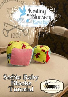 How to make a Softie Baby Block ♥ Fleece Fun