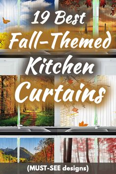 19 Best Fall-Themed Kitchen Curtains (MUST-SEE Designs). Article by HomeDecorBliss.com #HDB #HomeDecorBliss #homedecor #homedecorideas