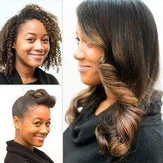 Dress up your natural curls for the holidays with these two looks.