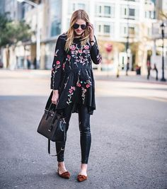 The most flattering embroidered dress from @chicwish is on the blog | handbag: @katespadeny | flats: @solesociety // http://liketk.it/2psTy @liketoknow.it #liketkit #mysolesociety