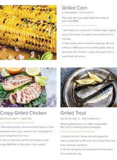 TaskRabbit's favorite summer grilling recipes.