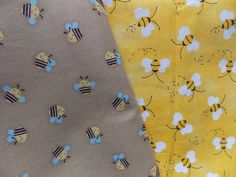 WtW Fabric Quilt Stash Craft Lot 2 Bee Bees Nature Garden Country Folk Bug
