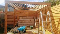 Hot Tub Pergola, Backyard Pergola, Fence Gate Design, Patio Design, Garden Design, Contemporary Fencing, Western Red Cedar Cladding, Shed Playhouse, Larch Cladding