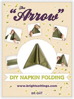 Arrow Napkin Fold